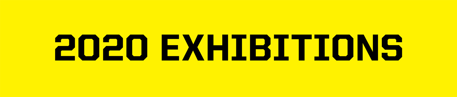 2020 Exhibitions banner