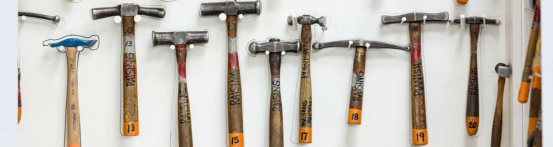 hammers on a shelf