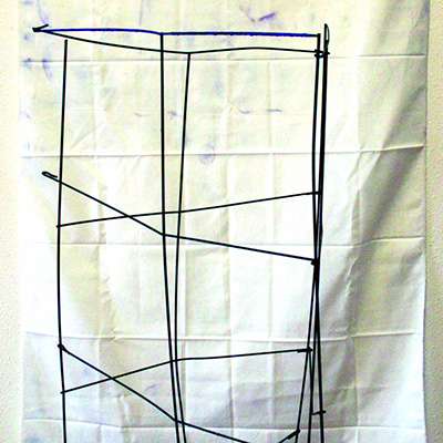 wire sculpture with fabric