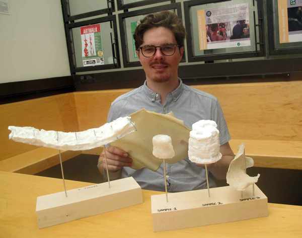 Zander Eckblad and his prototype