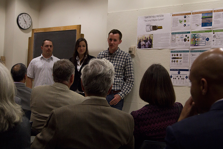 Landscape architecture students presented video and materials from the Bimimicry Challenge for Food Systems Issue Competition Studio