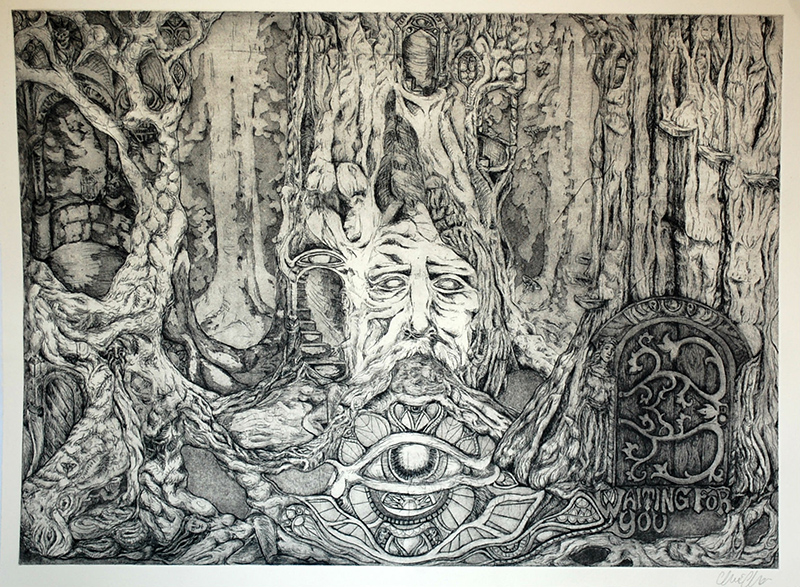 etching by Claire Christy