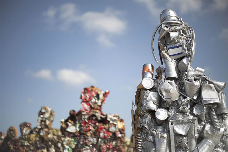 "H.A. Shult's ""Trash People"" installation in Tel Aviv, 2014"