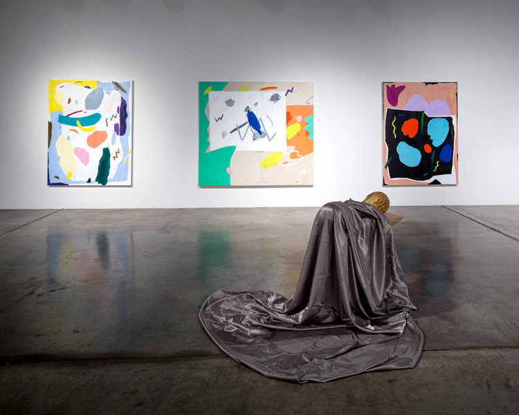 artwork: scuplture and paintings