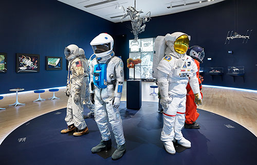 space suits in exhibition