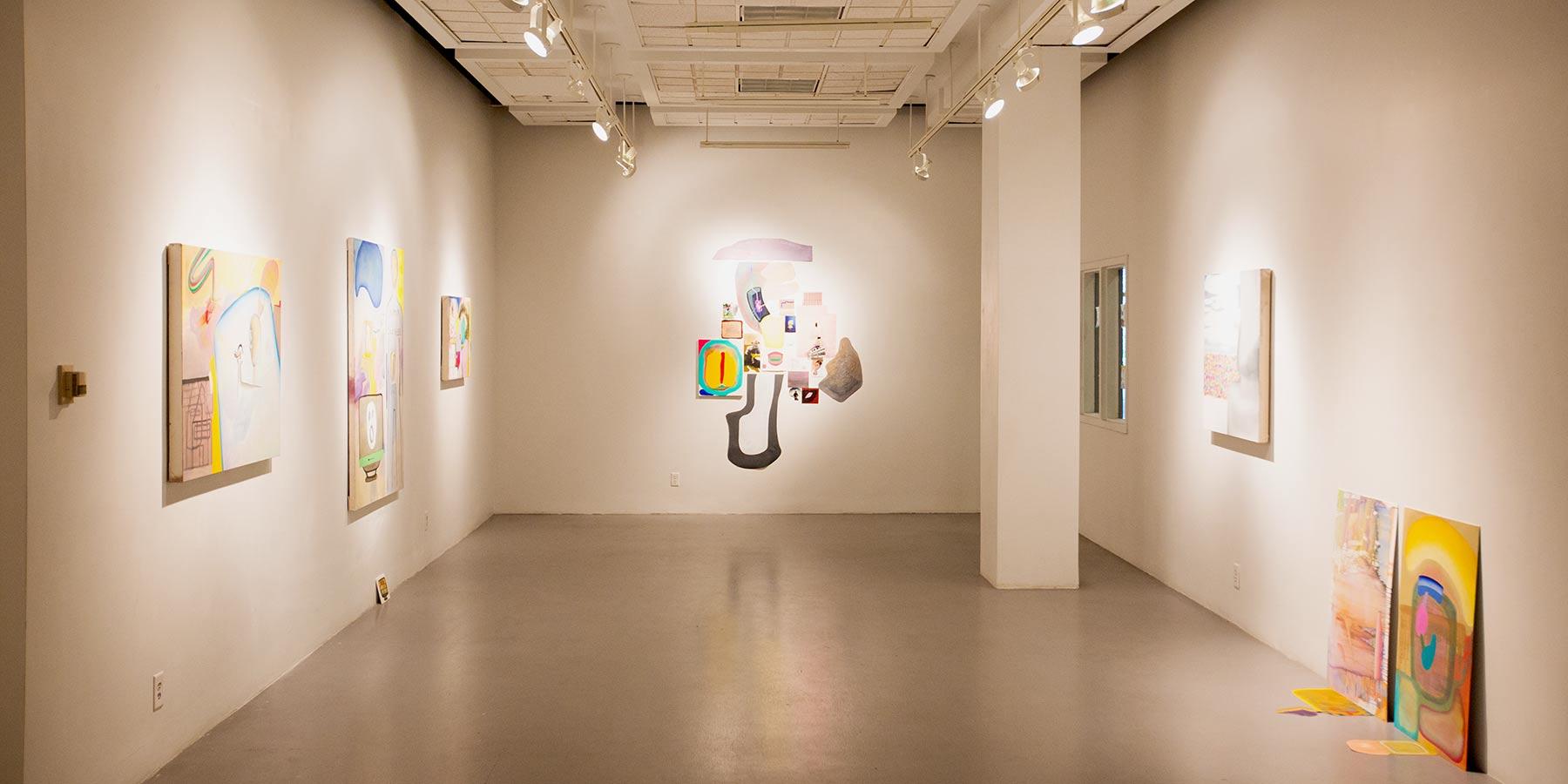 LaVerne Krause Gallery with paintings on display
