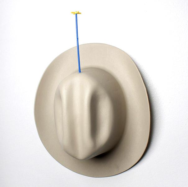 Untitled CHAFF, plastic hat