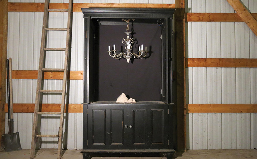 The Haunting of Vera Ruth, armoire, chandelier, clay, ladder