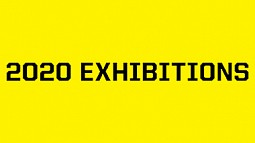 """Text slide that says """"2020 Exhibitions"""""""