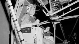 vintage nasa photo of an astronaut