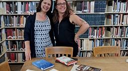 Eleonora Redaelli and Sara DeWaay at Design Library