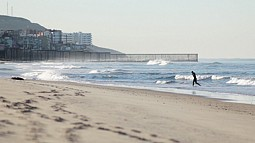 border at beach