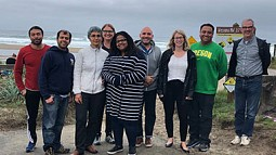 Photo of College of Design Faculty at the Oregon Coast