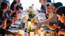 people enjoy feast