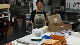 mika Aono Boyd in the UO Print Studio