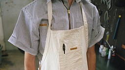 Shirt and Apron from Prison Blues apparel