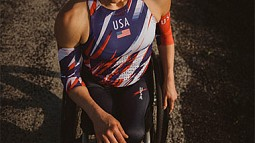 Paralympian Athlete in a wheelchair