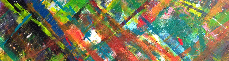 myriad of paint colors in diagonal lines