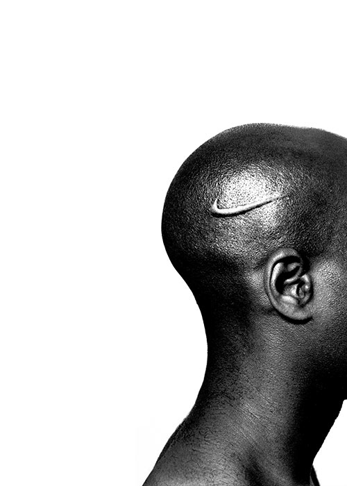 Branded Head, 2005, digital c-print, image courtesy the artist and Jack Shainman Gallery, New York
