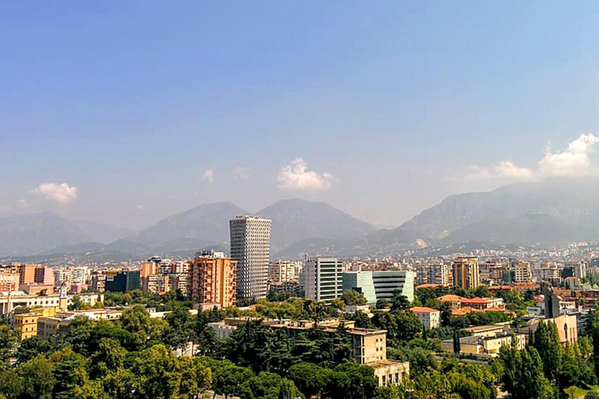 Cityscape of Tirana, Albania